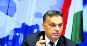 Viktor Orban: out on a political limb over attitude to Hungary's war record and its interpretation. Photograph: Reuters