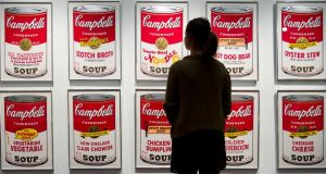 Andy Warhol's Campbell's Soup art works