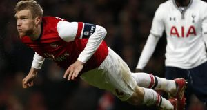 Per Mertesacker believes there is something different about the Arsenal of this season, something hardier and more self-assured. Photograph: Adrian Dennis/AFP