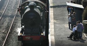 A steam train  pictured at  Rathdrum Railway Station 2012 as part of a Railway Preservation Society of Ireland trip. Photograph: Cyril Byrne/The Irish Rail