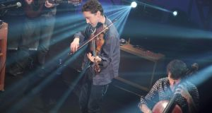 Former violinist with The Frames Colm Mac Con Iomaire performs at Other Voices in Derry last night. Photograph: Rich Gilligan