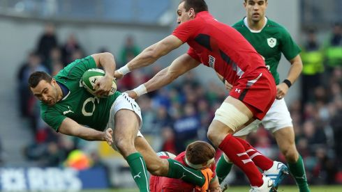 Ireland's Dave Kearney on the charge . Photograph: Colm O'Neill/Inpho