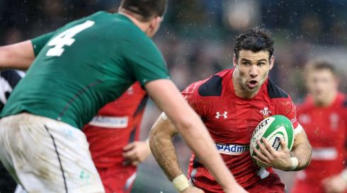 Wales' Mike Phillips tries to break through. Photograph: Colm O'Neill/Inpho