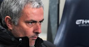 Chelsea manager   Jose Mourinho still playing down his side's title chances. Photograph: Lindsey Parnaby/EPA
