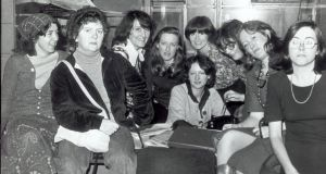 From left: 'Irish Times' journalists Maeve Donnellan, Nell McCafferty, Mary Maher, Geraldine Kennedy, Gabrielle Williams, Renagh Holohan (seated), Christina Murphy, Mary Cummins and Caroline Walsh.