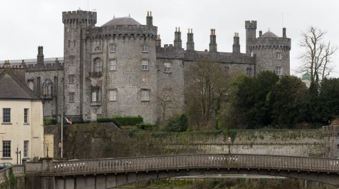 Kilkenny Castle, with Johns Bridge in the foreground. Photograph: Dylan Vaughan