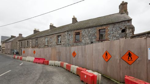 The three victorian houses on Vicar Street in Kilkenny that could be knocked for the new Kilkenny Central Access Scheme. Photograph: Dylan Vaughan