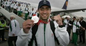 Kenny Egan pictured with his silver medal in 2008. Photograph: Alan Betson/Irish Times