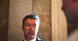 Junior United States Senator for Kentucky Rand Paul:  Peddling a fantasy at odds with the evidence. Photograph: Doug Mills/New York Times