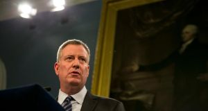New York City Mayor Bill de Blasio: will not march in the St Patrick's Day Parade.