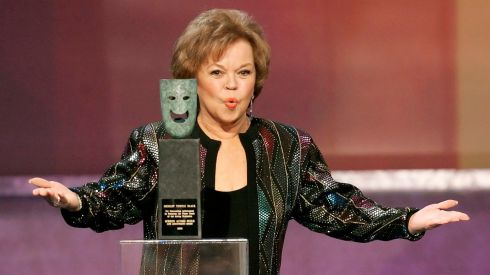 Shirley Temple Black accepts the Screen Actors Guild's Life Achievement Award at the 12th annual Screen Actors Guild Awards in Los Angeles, California in January, 2006. Photograph: Mario Anzuoni/Files/Reuters