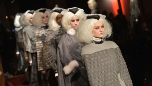 Photograph: Thom Browne Women's fashion show during New York Fashion Week. Slaven Vlasic/Getty Images