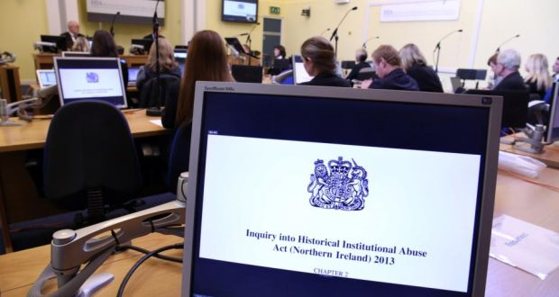 A file image showing the opening session of the independent Historical Institutional Abuse (HIA) Inquiry in Banbridge, Co Down last month. Photograph: PA