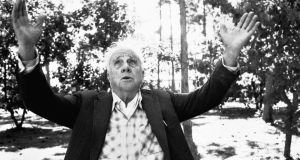 Robert Frost in 1958: the poet had a  high opinion of himself; he liked being praised and knew he deserved it. Photograph:  Robert Lerner/Getty Images