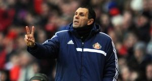 Sunderland manager Gus Poyet. Photograph:  Chris Brunskill/Getty Images
