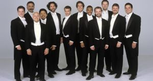 Chanticleer: although the line-up spans the usual vocal ranges of soprano, alto, tenor and bass, all 12 positions are filled by men