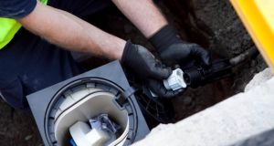 Irish Water  meter installation.   Photograph: Colm Mahady / Fennells