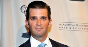 "Donald Trump jnr, the son of billionaire businessman Donald Trump, told The Irish Times from New York last night that he found the acquisition of Doonbeg Lodge and Golf Club ""really exciting"". Photograph: Getty"