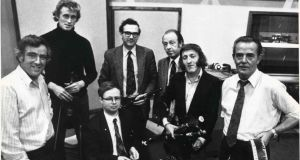 The Chieftains pictured in 1975 with Sean Potts on the far left. Photograph: Dermot O'Shea/The Irish Times