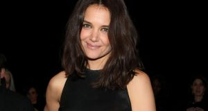 Katie Holmes at DKNY at New York fashion week. Photograph: Getty Images