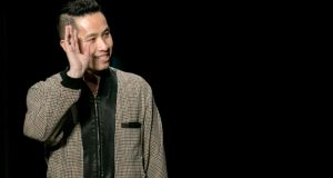 Phillip Lim closing his show during New York Fashion Week. Photograph: Reuters