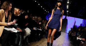Jourdan Dunne walking for DYNY in New York Fashion Week. Photograph: Reuters
