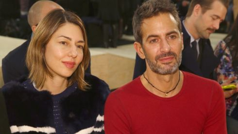 Designer Marc Jacobs (R) and Sofia Coppola attend  Marc By Marc Jacobs at New York Fashion Week. Photograph: Getty Images