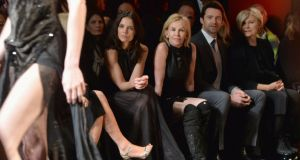 Katie Holmes, Trudie Styler, Hugh Jackman and Deborra-Lee Furness attend DKNY at New York Fashion Week. Photograph: Getty