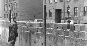 Divided Europe: a section of the Berlin Wall. Photograph: Hulton/Getty Images