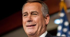 Democrats ridiculed John Boehner for his inability to muster just 18 votes among his members  Photograph: Pete Marovich/Bloomberg.