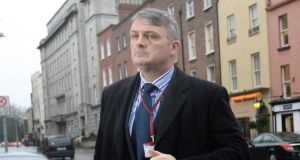 GSOC chairman Simon O'Brien  arriving at  Leinster House yesterday. Photograph: Brenda Fitzsimons