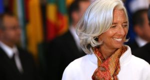 Christine Lagarde, who has been managing director of the International Monetary Fund (IMF) since 2011. Photograph: Spencer Platt/Getty Images
