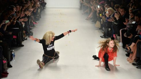 Betsy Johnson with her granddaughter at the Betsey Johnson fashion show at NY Fashion Week. Photograph: Getty Images