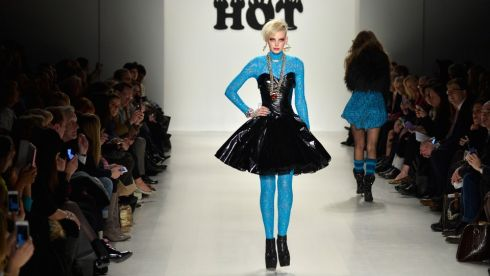 The Betsey Johnson fashion show at NY Fashion Week. Photograph: Getty Images