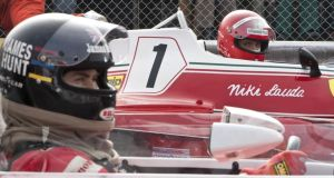 Chris Hemsworth (James Hunt) and Daniel Bruhl (Niki Lauda) in Rush
