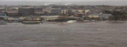 River Shannon bursting its banks in Limerick. Photograph: Saara Kalliokoski via Twitter