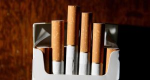 The Health Identifiers Bill 2013, which will introduce plain packaging for tobacco products,  has won cross-party support. Photograph: Martin Rickett/PA Wire