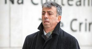 Witness Niall Tuite at Dublin Circuit Criminal Court today for the continuing Anglo trial. Photograph: Collins Courts