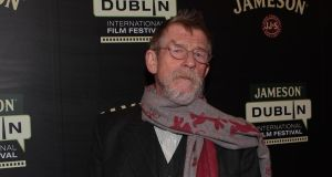 John Hurt at the Savoy cinema at the opening night. Photograph: Brian McEvoy