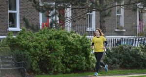 "Mary Jennings: ""Look at how much you have changed, and remember that when you are out on your runs this week"".  Photographer: Dara Mac Dónaill / The Irish Times"