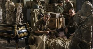 Sam Epstein, George Clooney, John Goodman, Bob Balaban and Matt Damon in The Monuments Men
