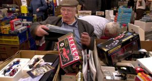 William O Flaherty, Palmerstown, Dublin pictured during the Dublin Toy & Train Fair in 2002. Photograph: Cyril Byrne/The Irish Times