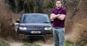 Heaslip in his role as 'brand ambassador' for Range Rover