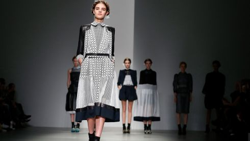 Swiss petticoat anyone? Bora Aksu Autumn/Winter 2014 collection at London Fashion Week.  Photograph: Suzanne Plunkett/Reuters