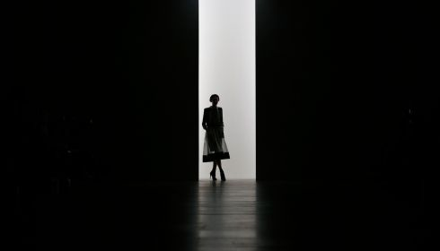 Arty shot no. 2. This one's quite good actually.  Bora Aksu collection, London Fashion Week. Photograph: Suzanne Plunkett/Reuters
