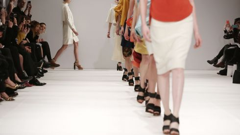 What was Fashion Week like before iPhones? Maybe people actually looked at the clothes. Lulu Liu show at Freemasons Hall, London. Photograph: Tim P. Whitby/Getty Images