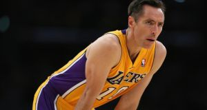 Los Angeles Lakers' point guard Steve Nash.
