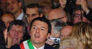Mayor of Florence Matteo Renzi during a ceremony at the Palazzo Vecchio in Florence yesterday. President Giorgio Napolitano is expected to give a mandate to Mr Renzi to form a government. Photograph: Maurizio Degl'Innocenti/EPA