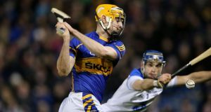 Tipperary's Séamus Callanan scores his side's first  goal. Photograph: Cathal Noonan/Inpho