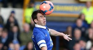 Everton's Séamus Coleman was man-of-the-match against the Swans. Photograph: Peter Byrne/PA Wire